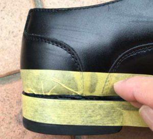 革靴の補修 3Mボンド