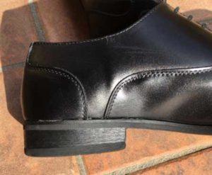 革靴の修復完了